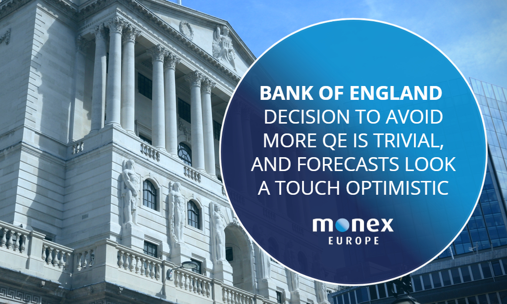 BoE decision to avoid more QE is trivial, and forecasts look a touch optimistic