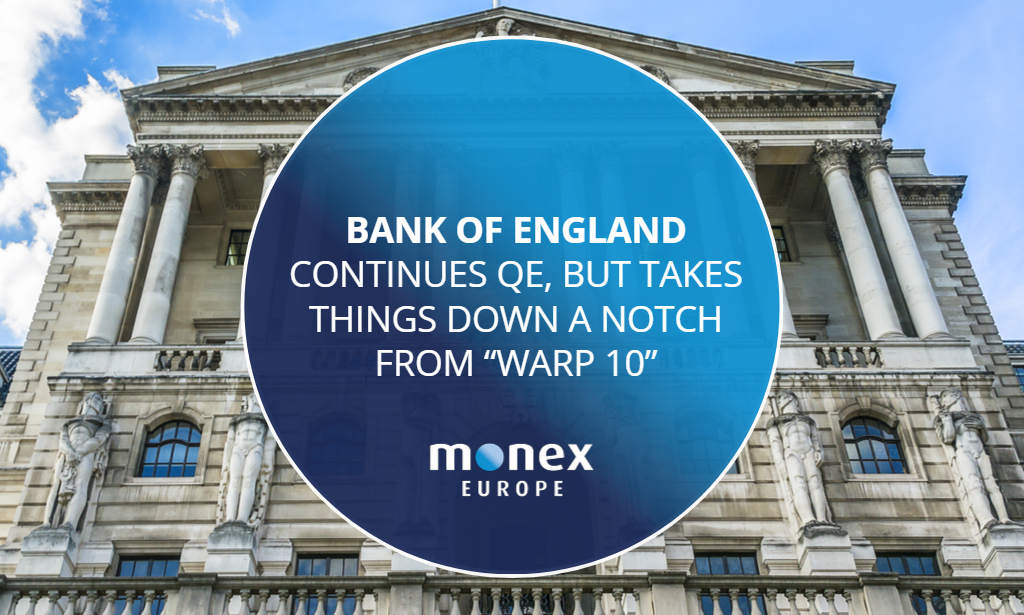 """Bank of England continues QE, but takes things down a notch from """"Warp 10"""""""