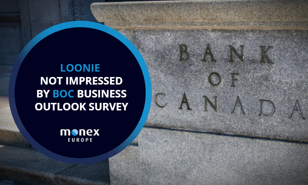 Loonie not impressed by BoC Business Outlook Survey