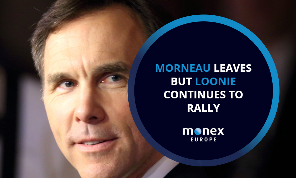 Morneau leaves but loonie continues to rally