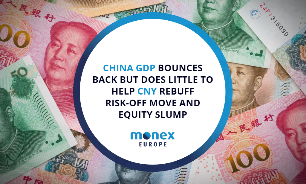 China GDP bounces back but does little to help CNY rebuff risk-off move and equity slump