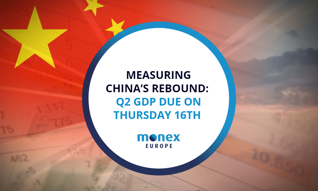 Measuring China's rebound: Q2 GDP due on Thursday 16th
