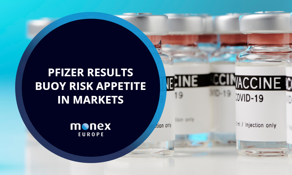 Pfizer results buoy risk appetite in markets