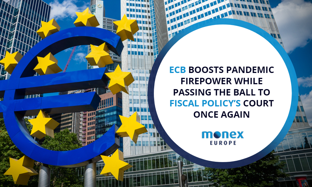 ECB boosts pandemic firepower while passing the ball to fiscal policy's court once again