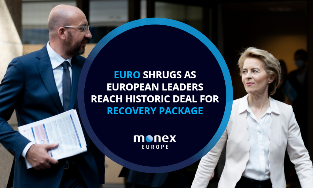 Euro shrugs as European leaders reach historic deal for recovery package
