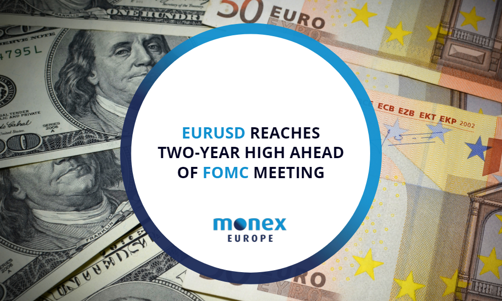 EURUSD reaches two-year high ahead of FOMC meeting