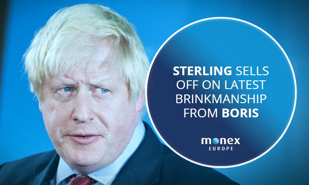 Sterling sells off on latest brinkmanship from Boris
