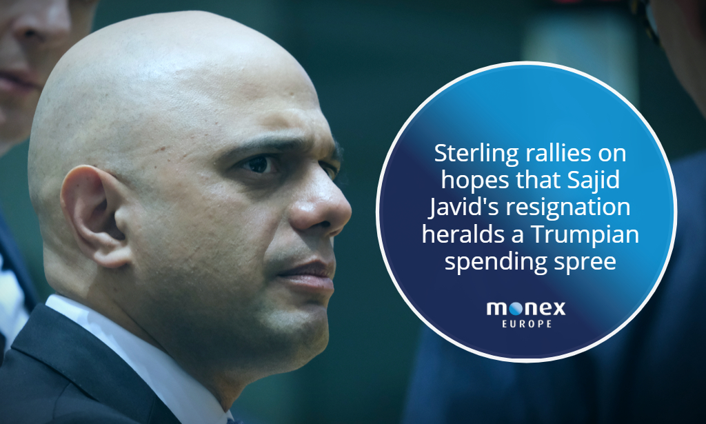 Sterling rallies on hopes that Sajid Javid's resignation heralds a Trumpian spending spree