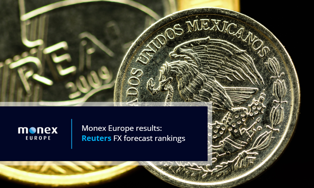 Monex ranked top forecaster for 1-month MXN and BRL forecasts