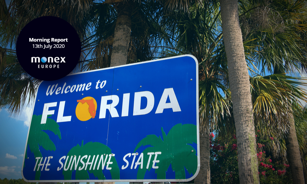 Florida case count rips through markets and sends USD lower