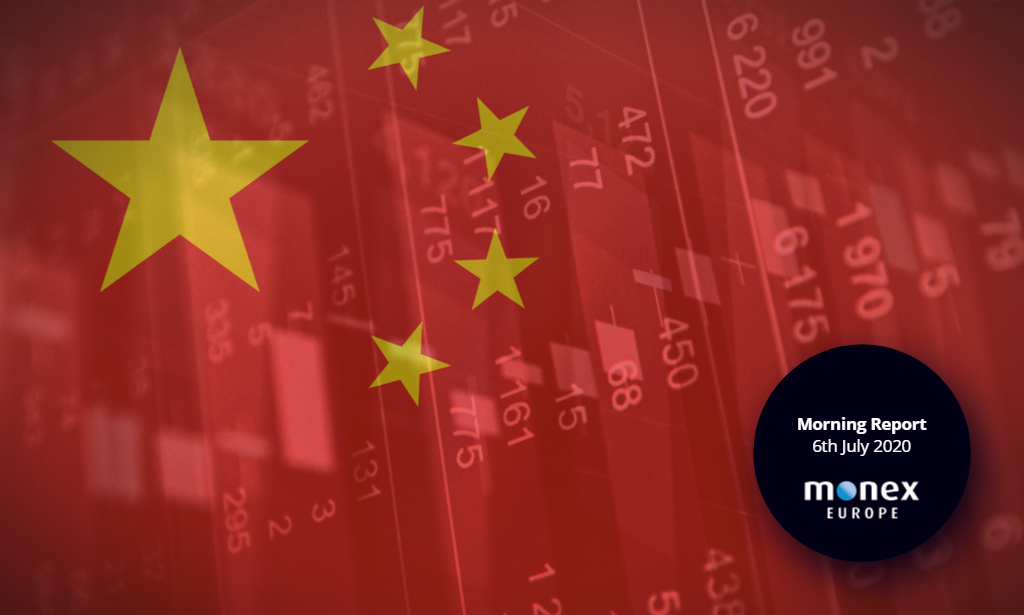 Chinese officials give markets the green light to rally, placing emphasis on risk appetite and US virus data