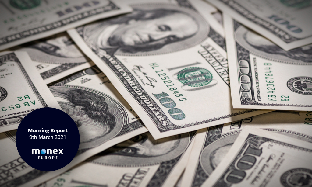 Fixed income markets take a breather, resulting in a mild weakening of the dollar