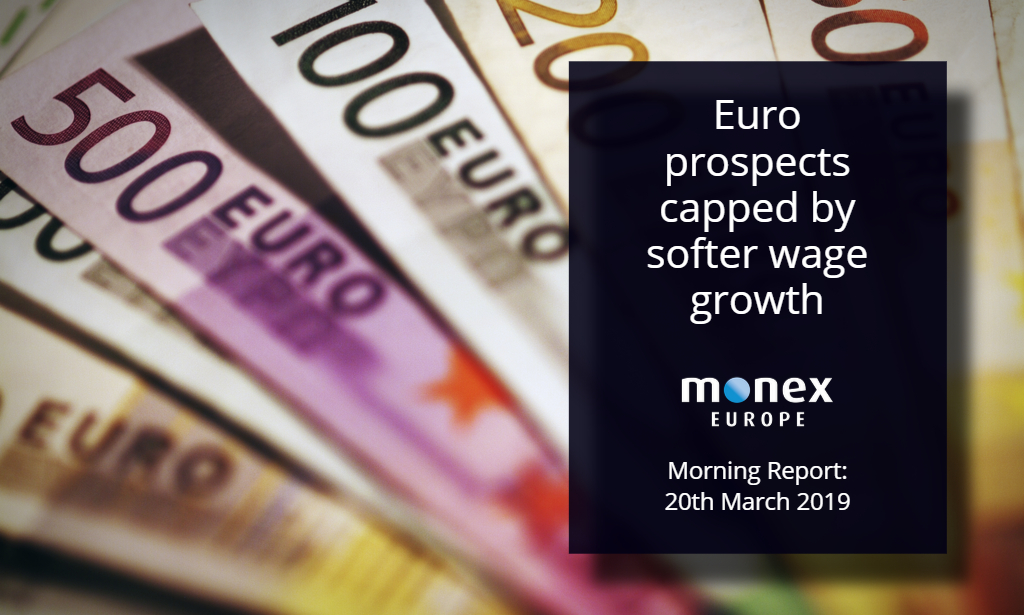 Euro prospects capped by softer wage growth