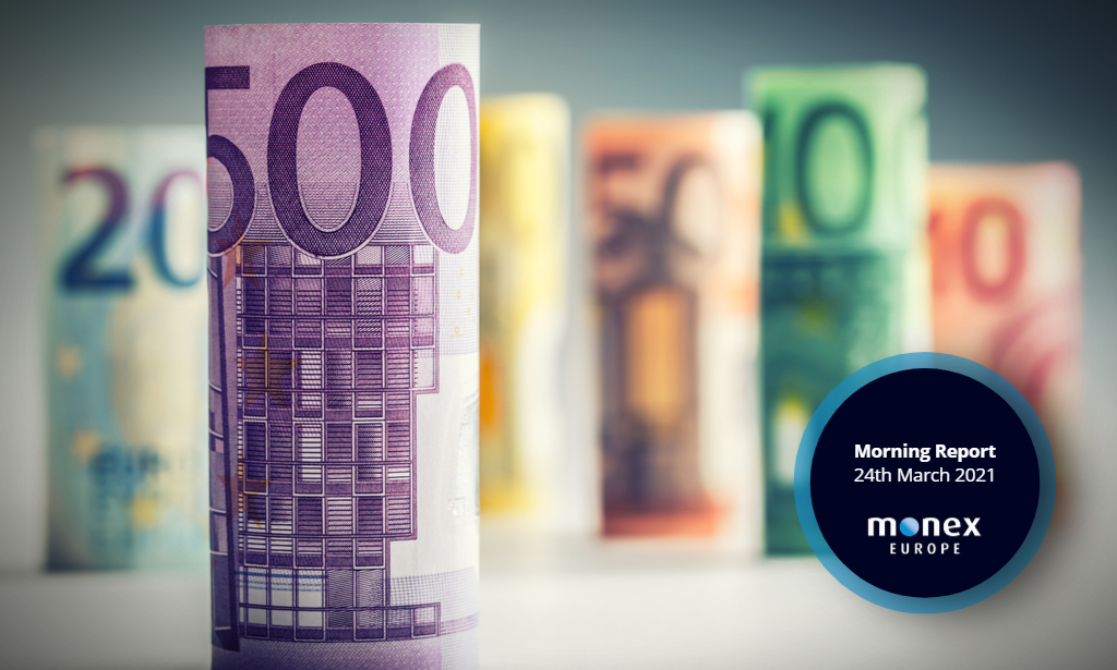Upbeat German PMIs fail to excite euro amid European third wave and risk aversion