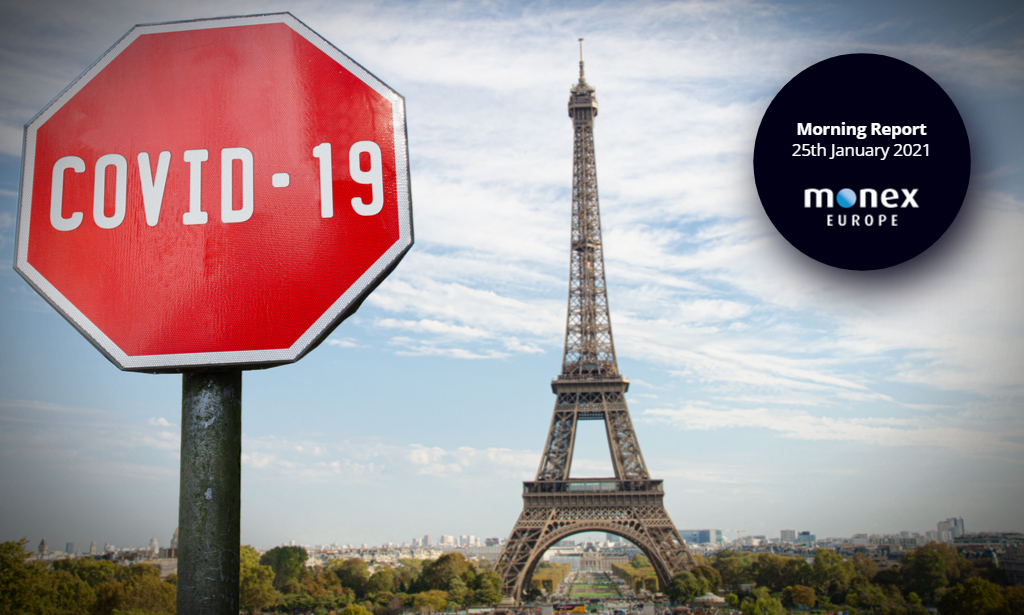France expected to deploy third national lockdown, weighing on EURUSD this morning