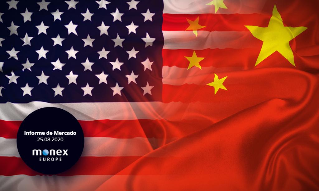 Tono positivo en conversaciones comerciales entre EE.UU. y China y esperanza de tratamientos para el virus debilitan el apetito por el dólar