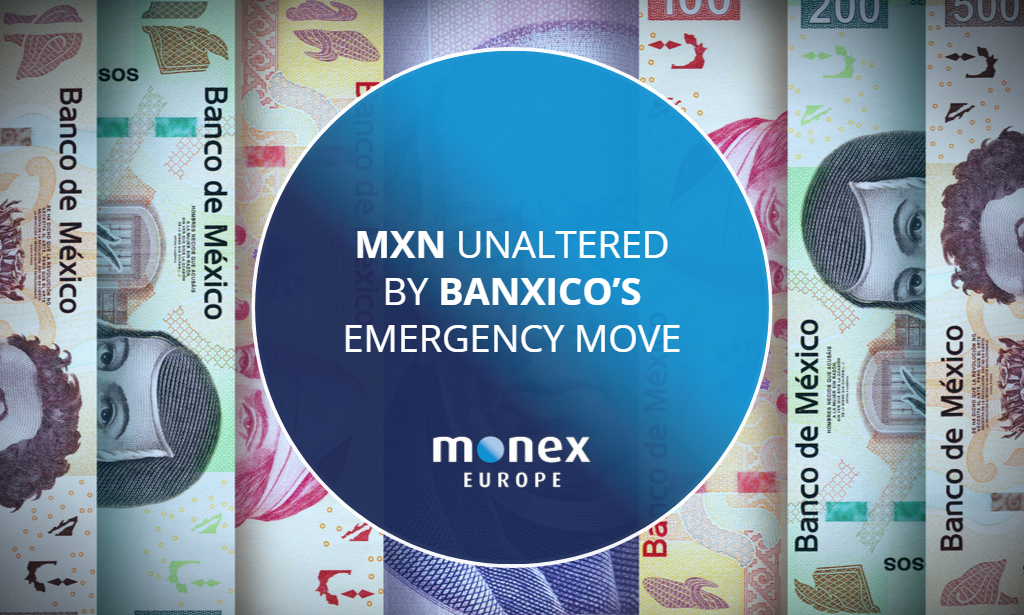 MXN unaltered by Banxico's emergency move