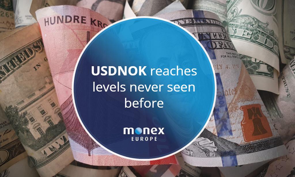 USDNOK reaches levels never seen before