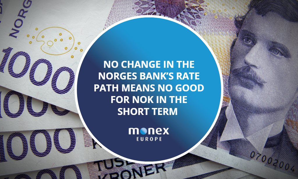 No change in the Norges Bank's rate path means no good for NOK in the short term