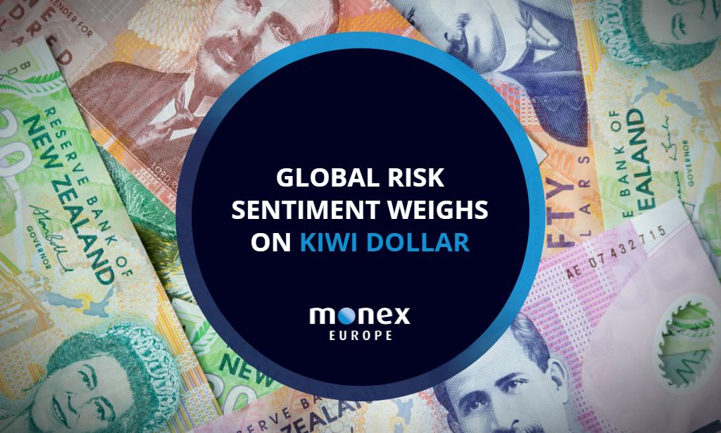 Global risk sentiment weighs on Kiwi dollar