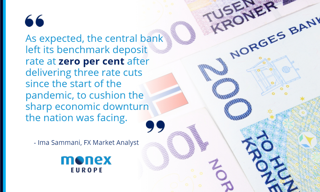 NOK rises to 1-week high vs euro after Norges Bank announcement