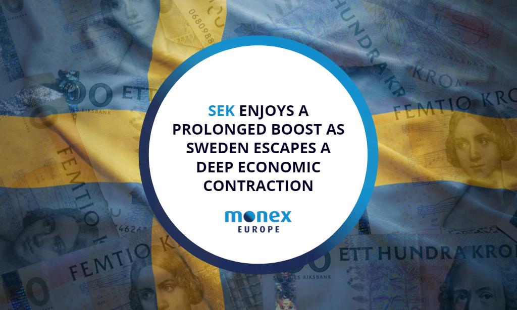 SEK enjoys a prolonged boost as Sweden escapes a deep economic contraction
