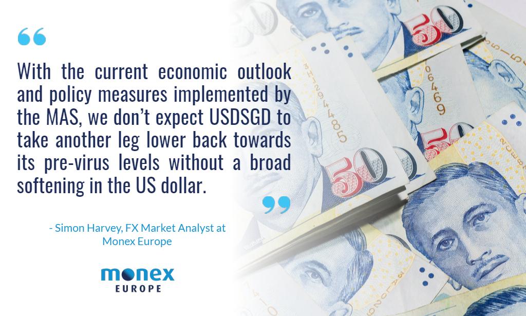 USDSGD unlike to move below 1.40 without broad USD weakness