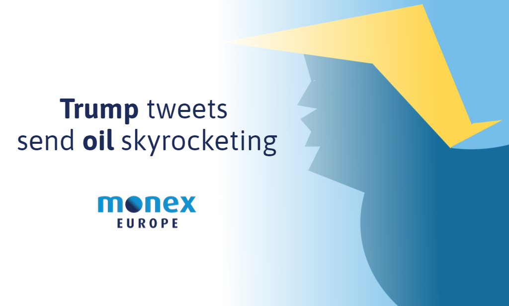 Trump tweets send oil skyrocketing