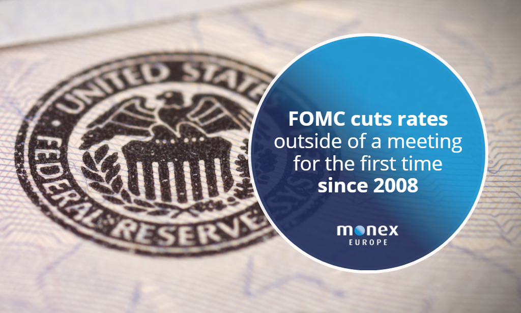 FOMC cuts rates outside of a meeting for the first time since 2008