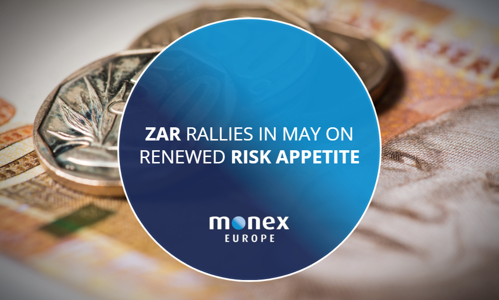 ZAR rallies in May on renewed risk appetite