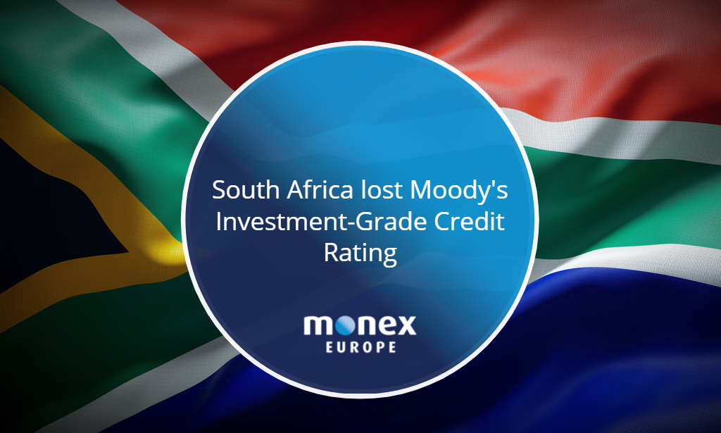 South Africa lost Moody's Investment-Grade Credit Rating