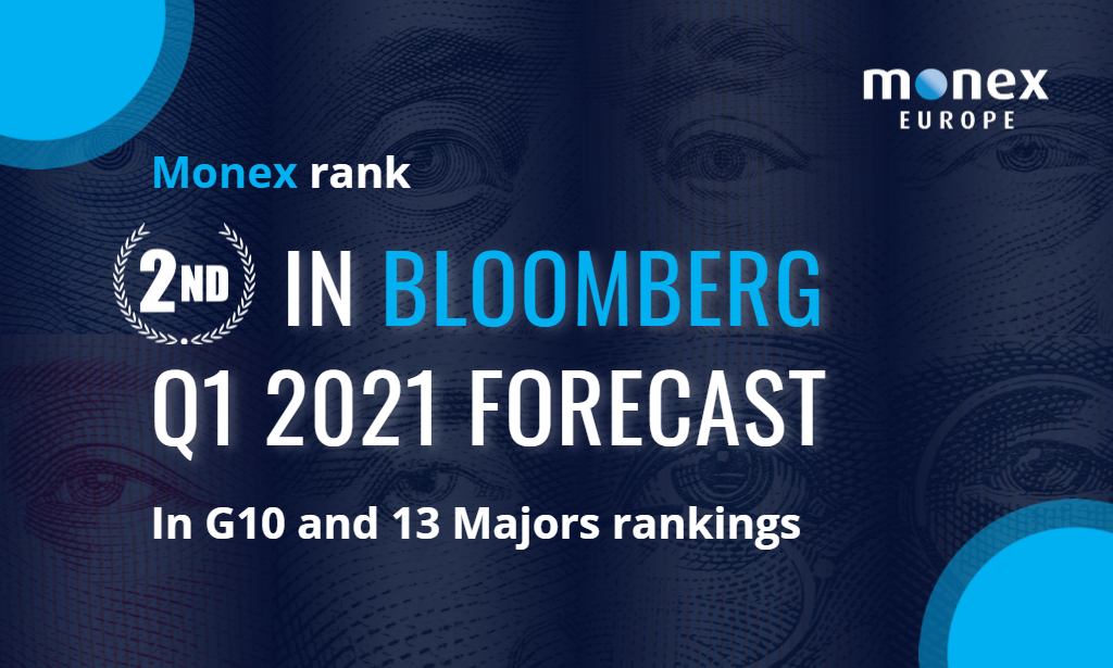 Monex Europe ranks 2nd in Bloomberg's G10 and 13 Majors rankings