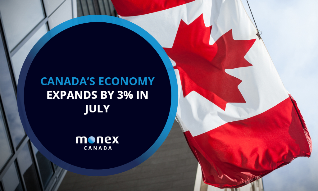 Canada's economy expands by 3% in July