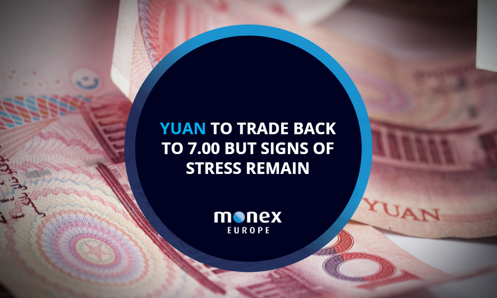 Yuan to trade back to 7.00 but signs of stress remain
