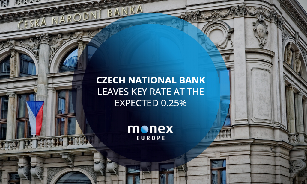 Czech National Bank leaves key rate at the expected 0.25%