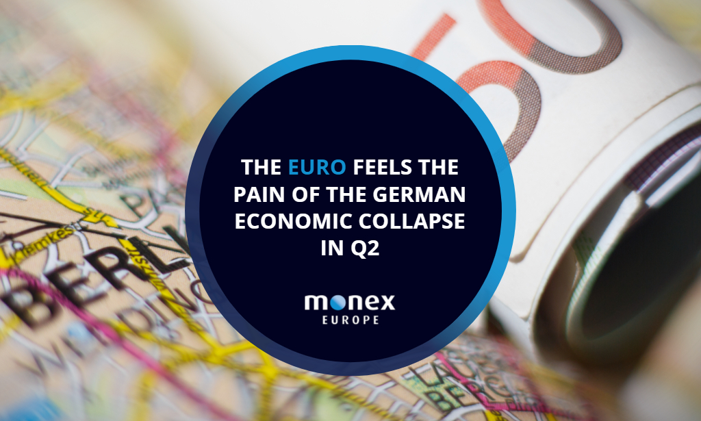 The euro feels the pain of the German economic collapse in Q2