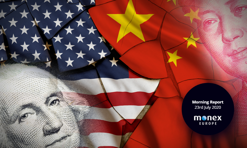 Dollar rout continues with tensions ramping up between the US and China