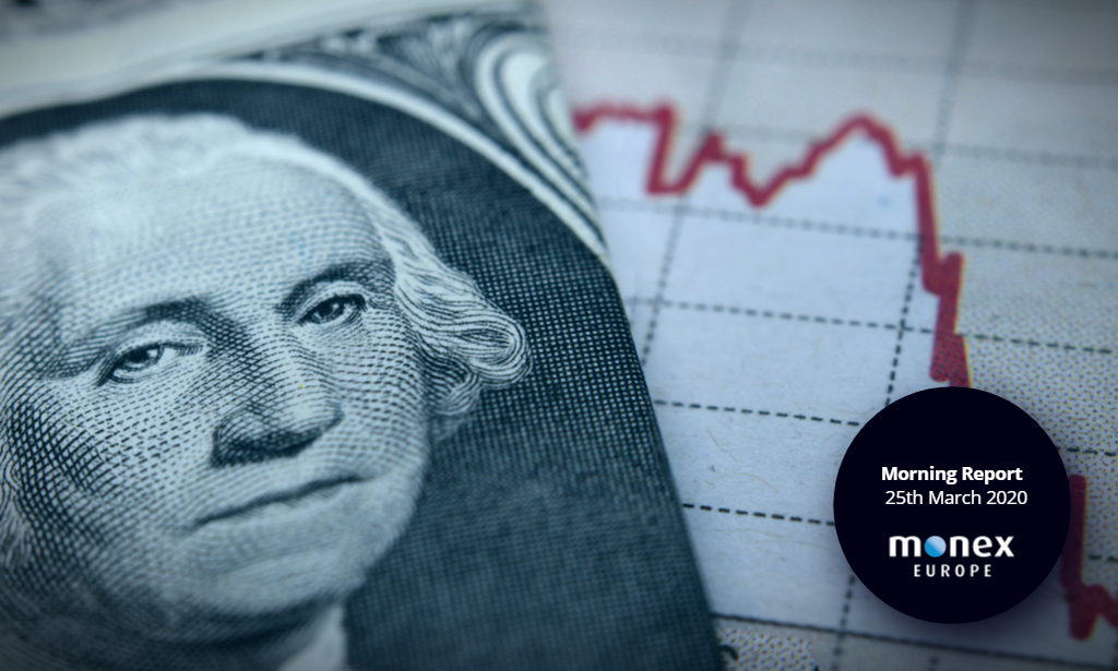 Dollar falls and risk appetite improves as Senate reaches fiscal stimulus deal