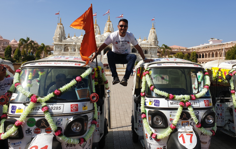 Monex Europe's Milan Varsani helps raise £250K in Charity Rickshaw Run