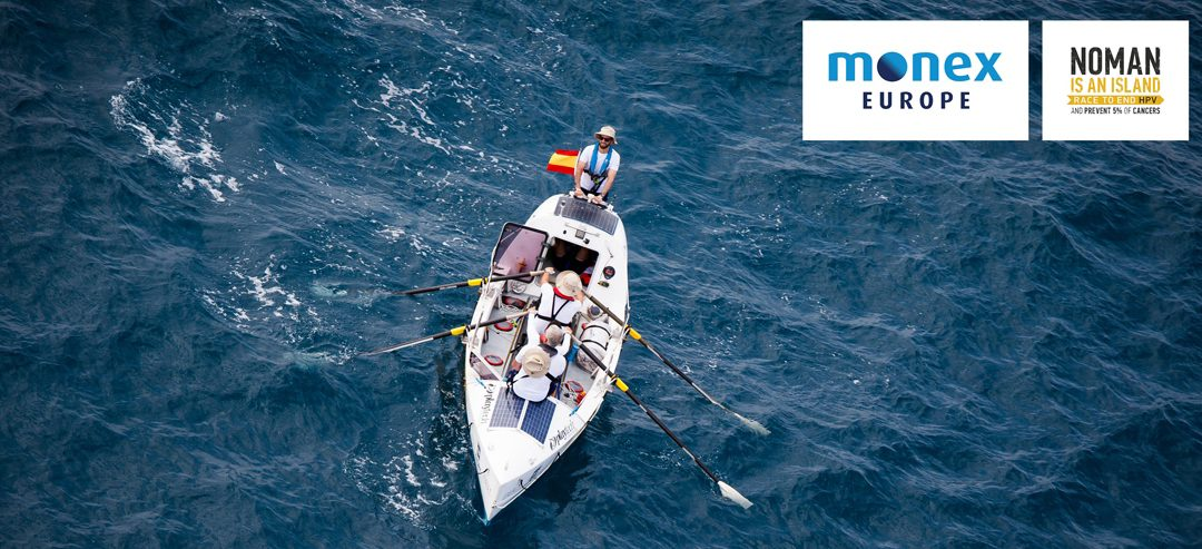 Monex Europe staff to row across the Mediterranean in the name of preventing 5% of cancers