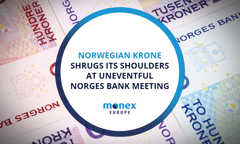 Norwegian krone shrugs its shoulders at uneventful Norges Bank meeting