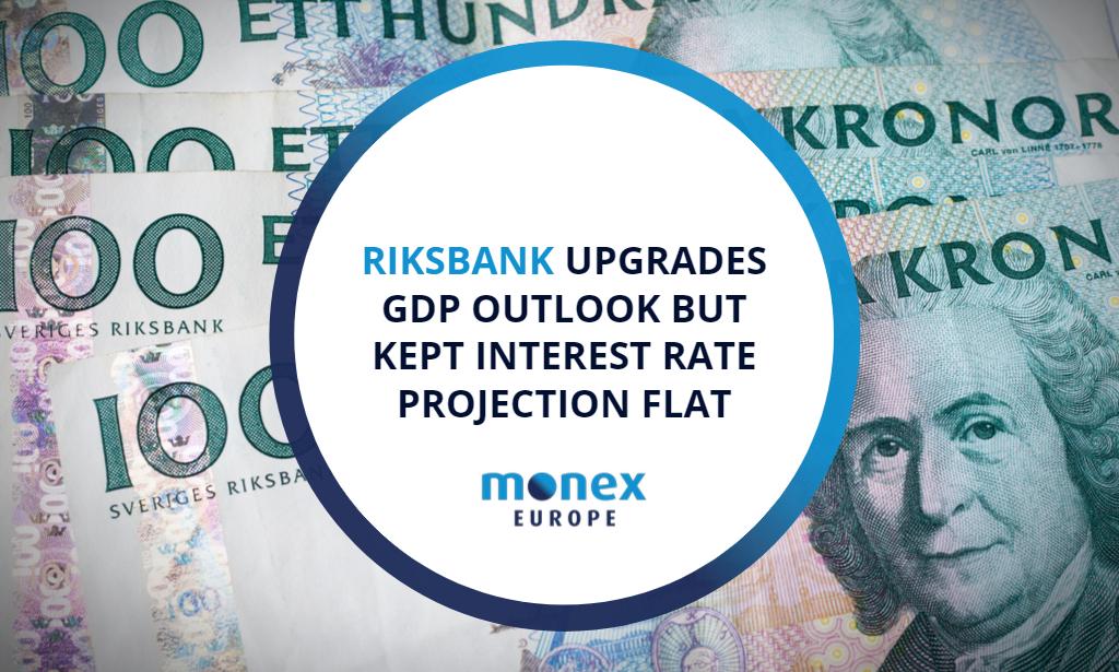 Riksbank upgrades GDP outlook but kept interest rate projection flat