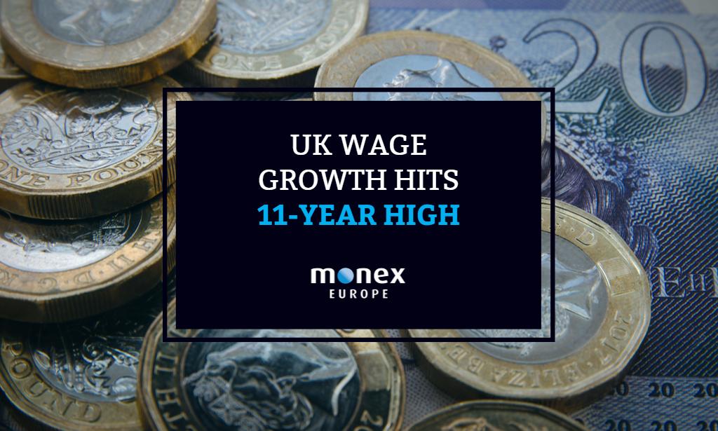 UK Wage Growth Hits 11-Year High