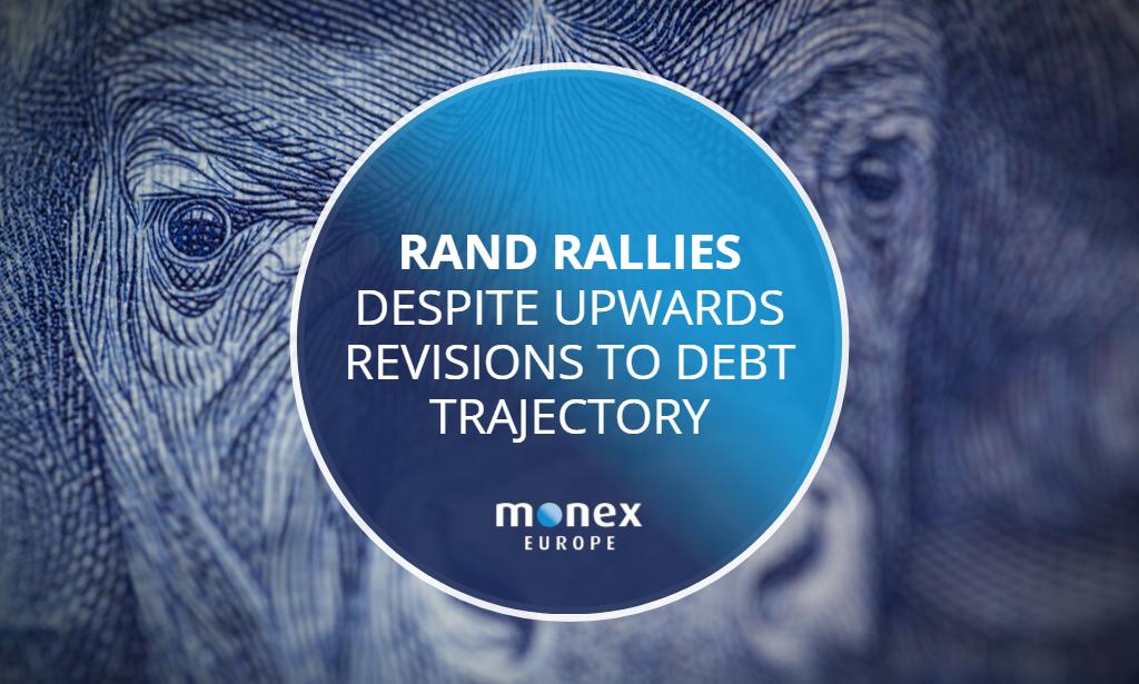 Rand rallies despite upwards revisions to debt trajectory