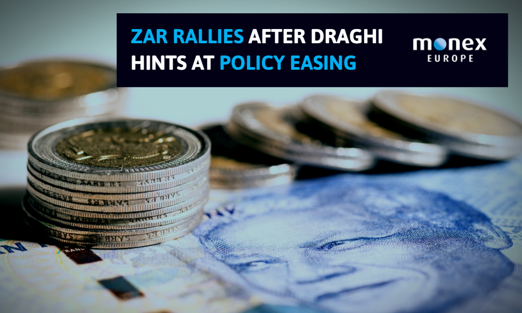 ZAR rallies after Draghi hints at policy easing